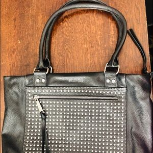 Kenneth Cole Reaction Tote. Black with Studs.